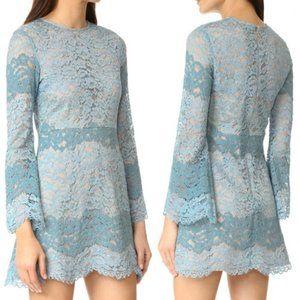 WAYF Dream Lover Blue Lace Dress XS